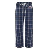 Navy/White Flannel Pajama Pant-Catawba Primary Mark