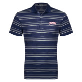 Adidas Climalite Navy Textured Stripe Polo-Catawba Primary Mark