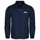 Full Zip Navy Wind Jacket-Catawba Primary Mark
