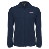 Fleece Full Zip Navy Jacket-Catawba with Swoop