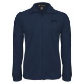 Fleece Full Zip Navy Jacket-Catawba Primary Mark