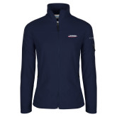 Columbia Ladies Full Zip Navy Fleece Jacket-Catawba with Swoop