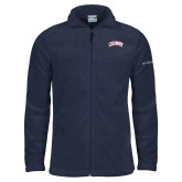 Columbia Full Zip Navy Fleece Jacket-Catawba Primary Mark