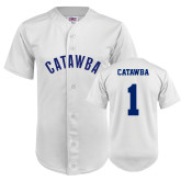 Replica White Adult Baseball Jersey-#1