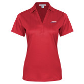 Ladies Red Performance Fine Jacquard Polo-Catawba with Swoop