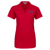 Ladies Red Dry Zone Grid Polo-Catawba Primary Mark