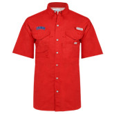 Columbia Bonehead Red Short Sleeve Shirt-Catawba Primary Mark