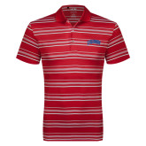 Adidas Climalite Red Textured Stripe Polo-Catawba Primary Mark