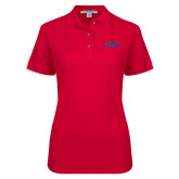 Ladies Easycare Red Pique Polo-Catawba Primary Mark