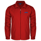 Full Zip Red Wind Jacket-Catawba Primary Mark