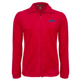Fleece Full Zip Red Jacket-Catawba Primary Mark