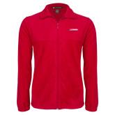 Fleece Full Zip Red Jacket-Catawba with Swoop