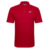 Red Textured Saddle Shoulder Polo-C with Feathers