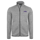 Grey Heather Fleece Jacket-Catawba Primary Mark