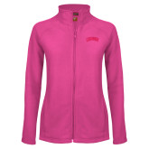 Ladies Fleece Full Zip Raspberry Jacket-Catawba Primary Mark