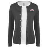 Ladies Charcoal Cardigan-Catawba Primary Mark