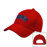 Red Heavyweight Twill Pro Style Hat-Catawba Primary Mark