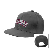 Charcoal Flat Bill Snapback Hat-Catawba Primary Mark