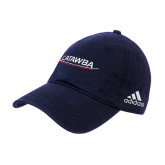 Adidas Navy Slouch Unstructured Low Profile Hat-Catawba with Swoop