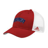 Adidas Red Structured Adjustable Hat-Catawba Primary Mark