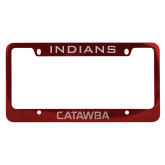 Metal Red License Plate Frame-Indians