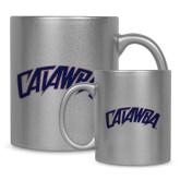 11oz Silver Metallic Ceramic Mug-Catawba Primary Mark