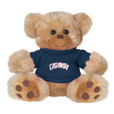 Plush Big Paw 8 1/2 inch Brown Bear w/Navy Shirt-Catawba Primary Mark