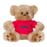 Plush Big Paw 8 1/2 inch Brown Bear w/Red Shirt-Catawba Primary Mark