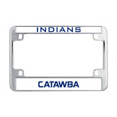 Metal Motorcycle License Plate Frame in Chrome-Indians