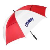62 Inch Red/White Umbrella-Catawba Primary Mark