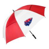 62 Inch Red/White Umbrella-Arrowhead