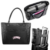 Sophia Checkpoint Friendly Black Compu Tote-Catawba Primary Mark