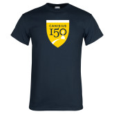 College Navy T Shirt-Sesqui Crest
