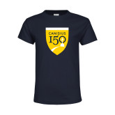 College Youth Navy T Shirt-Sesqui Crest