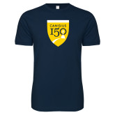 College Next Level SoftStyle Navy T Shirt-Sesqui Crest