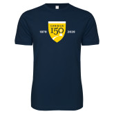 College Next Level SoftStyle Navy T Shirt-Sesqui Crest Dates