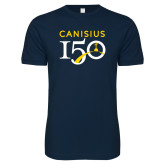College Next Level SoftStyle Navy T Shirt-Sesqui Text