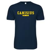 College Next Level SoftStyle Navy T Shirt-Retro Logo 4