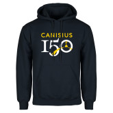 College Navy Fleece Hoodie-Sesqui Text