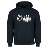 College Navy Fleece Hoodie-Retro Logo 2