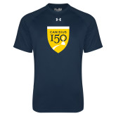 College Under Armour Navy Tech Tee-Sesqui Crest