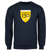 College Navy Fleece Crew-Sesqui Crest