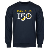 College Navy Fleece Crew-Sesqui Text
