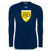 College Under Armour Navy Long Sleeve Tech Tee-Sesqui Crest