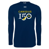 College Under Armour Navy Long Sleeve Tech Tee-Sesqui Text