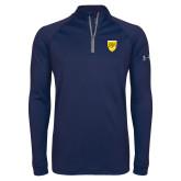 College Under Armour Navy Tech 1/4 Zip Performance Shirt-Sesqui Crest