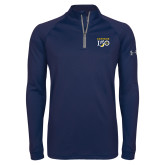 College Under Armour Navy Tech 1/4 Zip Performance Shirt-Sesqui Text
