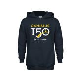 College Youth Navy Fleece Hoodie-Sesqui Crest Dates