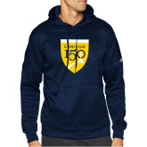 College Adidas Navy Team Issue Hoodie-Sesqui Crest