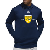 College Adidas Navy Team Issue Hoodie-Sesqui Crest Dates
